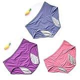 HNZZ Calzoncillos Pantalones Breves Impermeables A Prueba De 3pcs / Set De Fugas Menstrual Bragas Panty Fisiológica De Las Mujeres De La Ropa Interior De Algodón Periodo