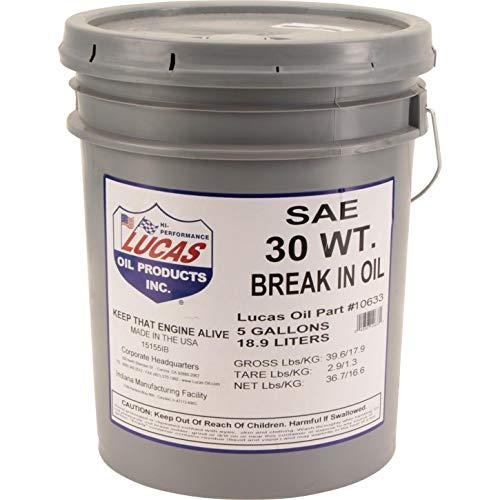 Lucas Oil 10630 SAE 30 Engine Break-In Oil 5 Gal