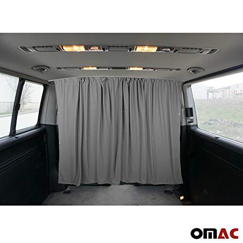 OMAC Sonnenschutz Gardinen für Transporter III IV V VI T4 T5 T6 Grau