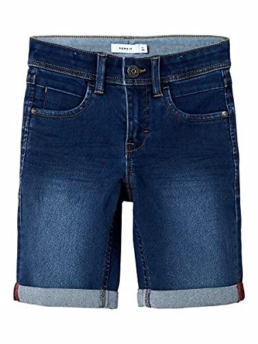 Name It Nkmsofus Dnmtax 2012 Long Shorts Noos Pantaloncini, Blu (Medium Blue Denim Medium Blue Denim), 128 Bambino