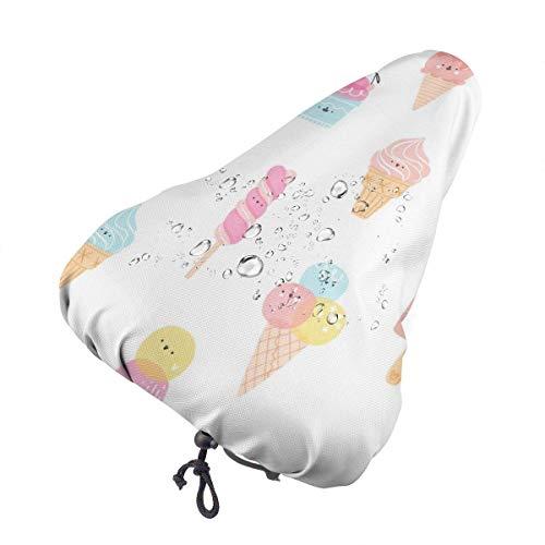 Funda de Asiento para Bicicleta Cute Party Cartoon Cute Funny Bicycle Seat Rain Cover, Bike Saddle Cushion Cover Protector Shield