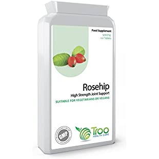 Rosehip 5000mg 120 Tablets - High Strength Joint Support Supplement - UK Manufactured GMP Guaranteed Quality