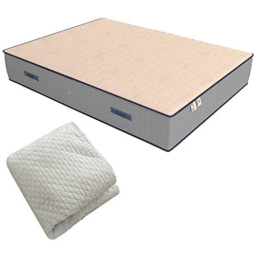 Baldiflex Emporio Materasso Singolo Molle e Memory Luxury 90x200 cm, 800 Molle e 3 cm Memory, Altezza 22 cm
