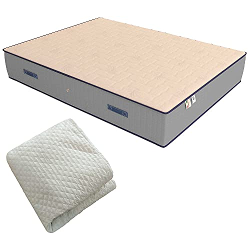 Baldiflex Emporio Materasso Singolo Molle e Memory Luxury 100x190 cm, 800 Molle e 5 cm Memory, Altezza 25 cm