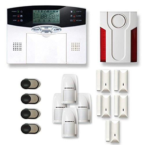 Alarme de Maison sans Fil 4 à 5 pièces MN Mouvement + Intrusion + sirène extérieure - Compatible Box Internet