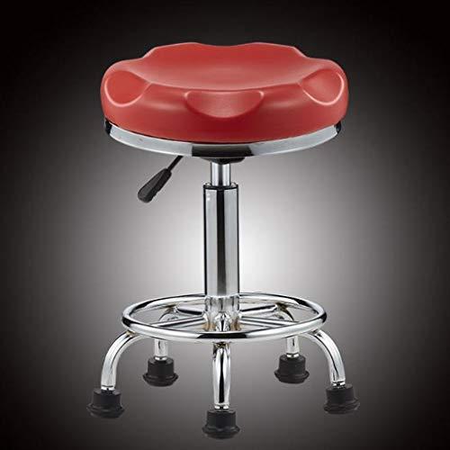 Kruk, draaibaar, voor vrije tijd, barstoelen, zitmeubilair, eenvoudige hoogte, van metaal, kruk, hoge schoonheid Rood