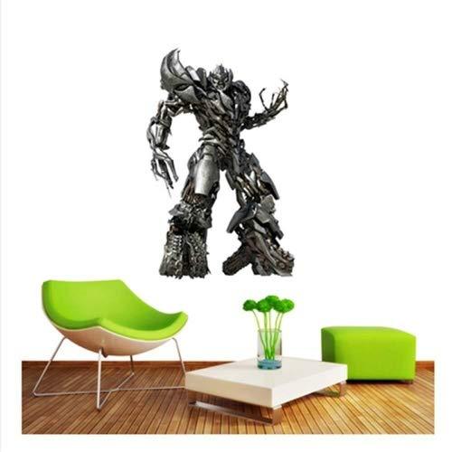 WXQIANG 3D Wandaufkleber Aufkleber Surper Held Bumblebee Transformers Roboter Optimus Prime Anime Tapeten Tapeten dekorative Selbstklebende Chilsren-Raum-Wand-Dekor 60x40cm (Color : S)