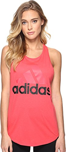 adidas Women's Essentials Linear Loose Tank Top, Black/White, XX-Small