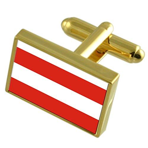 Stadt Brünn Tschechien Gold Manschettenknöpfe graviert Box