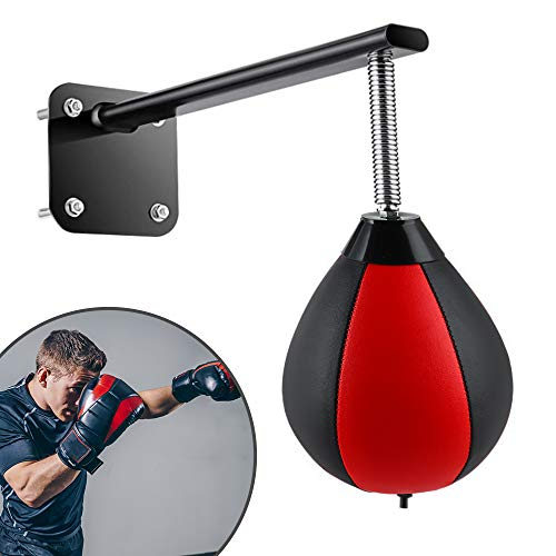 ETE ETMATE Wall-Mounted Boxing Ball Pressure Relief Ball with Reinforced Spring Speed Ball for Home Office Gym