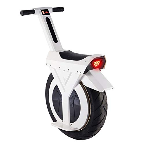 LHLCG Elektro-Einrad -17 Zoll Smart Balance Scooter,White,rechargemileage60km