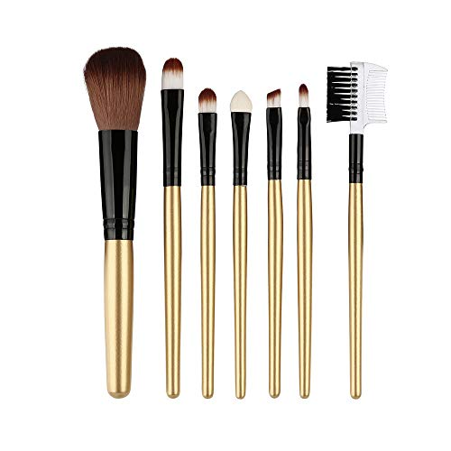 Pinceau De Maquillage jkhhi,7 Pcs Double TêTe Cils Sourcils Peigne,Fard à Joues Blush Fards à PaupièRes Ombre à PaupièRes Eyeshadow Brosse Maquillage Kit De Beauté