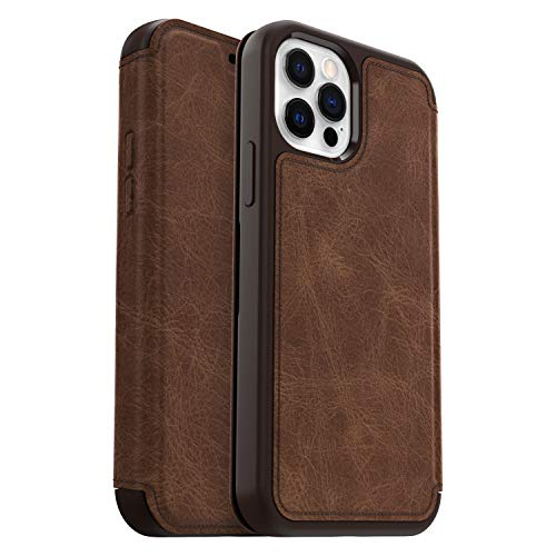 OtterBox für Apple iPhone 12/iPhone 12 Pro, Premium Folio-Schutzhülle aus Leder, Strada Serie, Braun