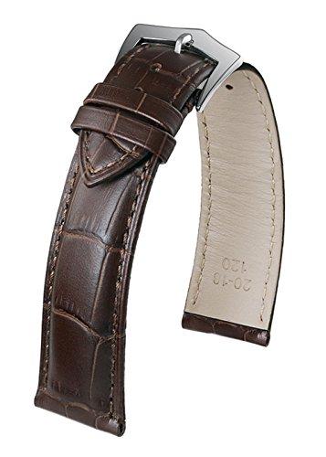 22 millimetri premio marrone scuro cinturino di orologio in pelle...