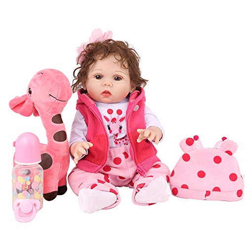 CHAREX Reborn Baby Dolls Silicone Full Body, 18 Inch Newborn Baby Girl Doll, Realistic Waterproof Washable Baby Real Toddler