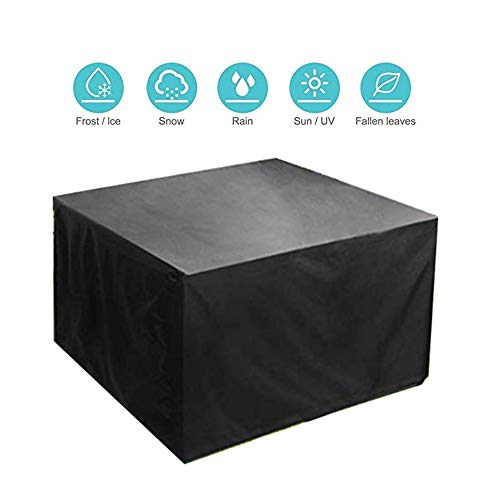 NINGWXQ Patio Garden Furniture Cover Dust-proof beschermingszeil Waterproof Anti-UV Bench Swing Loveseat, op maat (Color : Black, Size : 126×126×74cm)