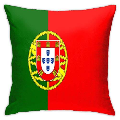 Lsjuee Poliéster Throw Pillow Case Funda de cojín Italiano Verde Blanco Bandera roja Sofá Decorativo para el hogar (18x18 Pulgadas / 45x45cm)