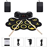 Asmuse Electronic Drum Set Roll Up Drum Kit 9 Pads Built-in Dual Speaker