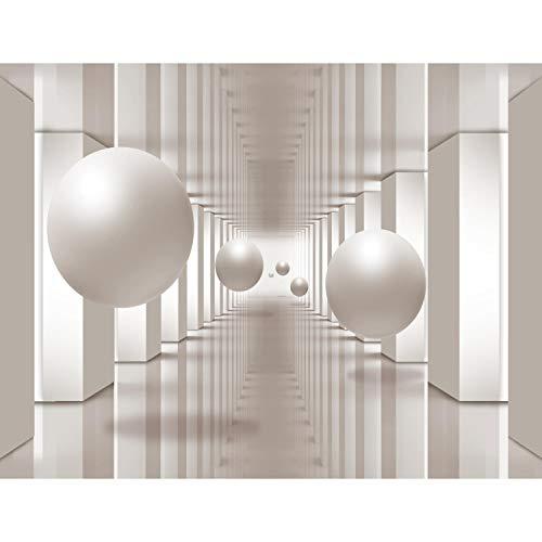 Fototapete 3D - Beige 396 x 280 cm Vlies Wand Tapete Wohnzimmer Schlafzimmer Büro Flur Dekoration Wandbilder XXL Moderne Wanddeko - 100% MADE IN GERMANY - Runa Tapeten 9183012a