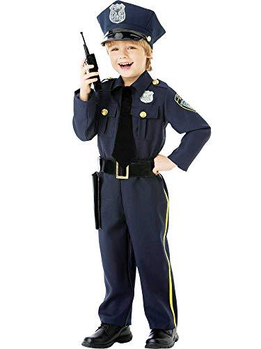 amscan 999664 - Disfraz de oficial de polica con sombrero, color azul