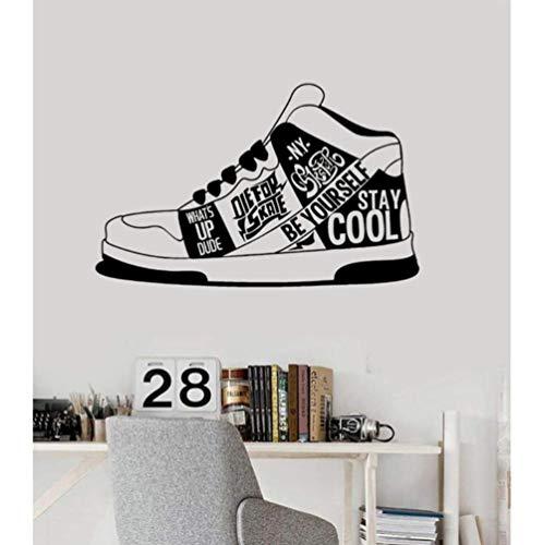 Sneakers 89X56cm Art Quote Muursticker, PVC Vinyl Materiaal Muursticker, Afneembare DIY Ambachten Huisdecoratie Waterdichte Wallpaper wallposter