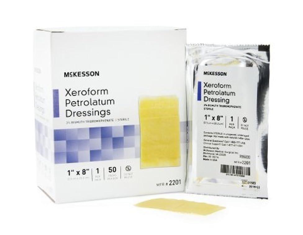 Sammons Preston Xeroform Petrolatum Dressing McKesson 1 X 8 Inch Gauze Bismuth Tribromophenate Sterile - Box of 50