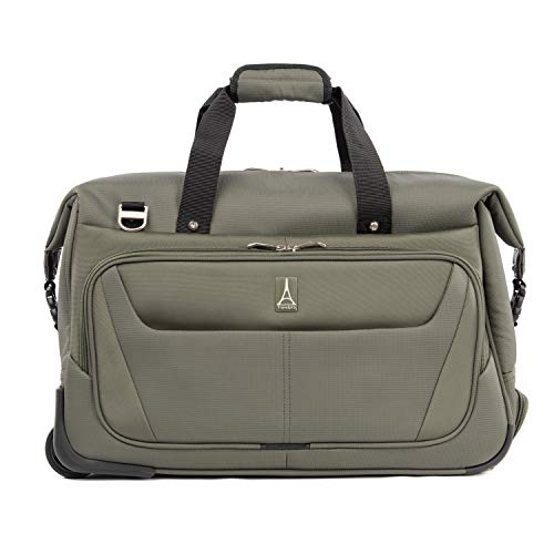 Travelpro Maxlite 5-Carry-On Rolling Duffel Bag, Slate Green, 20-Inch
