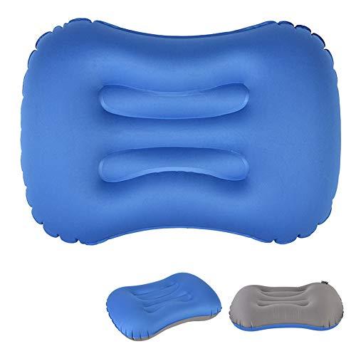 YLOVOW Cuscino di Supporto per Schienale Lombare Cuscino di Supporto per Schienale Lombare Gonfiabile per Auto Cuscini di Massaggio per Supporto Lombare Portatile,Blu