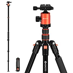 """in budget affordable GEEKOTO 77 """"tripod, camera tripod for digital SLR, compact aluminum tripod with 360 degree ball head…"""