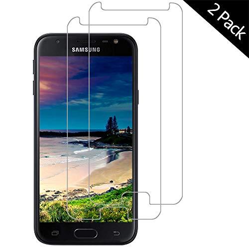 OUJD Protector Pantalla para Samsung Galaxy J3 2017 ( Paquete de 2 ) - Samsung Galaxy 2017, Cristal Vidrio Templado Premium