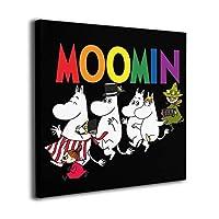 Moomins ムーミン アートパネル フレームレス装飾画 アートフレーム 壁掛け フレームの絵 壁アート 壁飾り おしゃれ パネル絵 ウォール装飾 壁ポスター アートポスター 背景絵画 写真 人気 寝室の飾り キャンバスフレーム ハイクオリティーギフト プレゼント 正方形