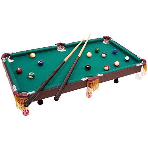 small foot 4039 Billardtisch mit Zubehör, aus Holz, Tischbillard im klassischen Design, Gesellschaftsspiel, ab 3 Jahre
