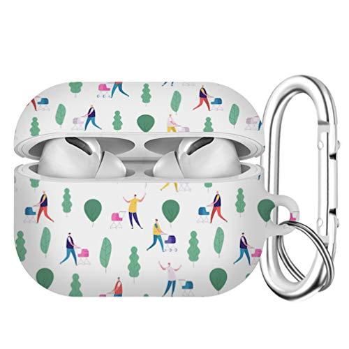 Compatible con Airpods Pro Funda protectora rígida a prueba de golpes para hombres y mujeres con llavero, bonito patrón para AirPods Pro [Cochecitos de bebé para hombres y caminatas]