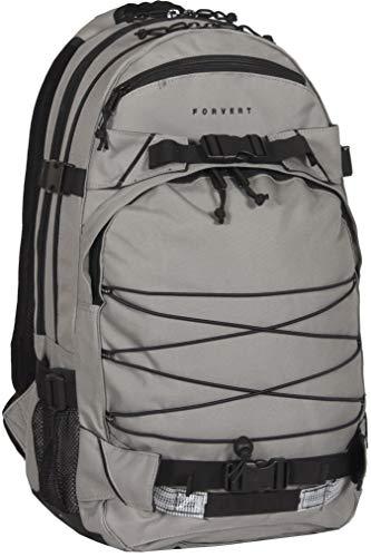 FORVERT Laptop Louis,Unisex,Daypack,Rucksack mit 15 Zoll Laptopfach,3 weiteren Fächern,gepolstertes Rückenteil,Grey,one Size