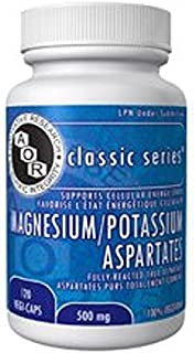 Magnesium Potassium Aspartates (120 VeggieCaps) Brand: A.O.R Advanced Orthomolecular Research