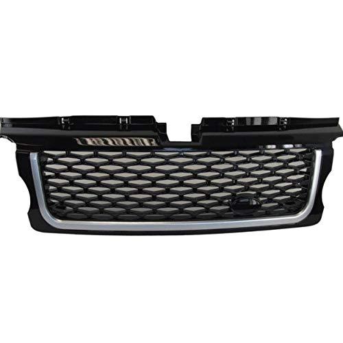 Autorennen-Grills Car Styling Tuning Autoteile Autobiography-Art-Upgrade Vorder Middle Grill Grill Fit For Land Rover-Strecken-Sport 2005-2009 Jahr Ierengitter (Color : Black silver black)