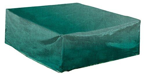 Royal Gardineer Gartentischabdeckung: Gewebe-Abdeckplane für rechteckigen Tisch, 200 x 70 x 160 cm (Abdeckung Gartentisch)