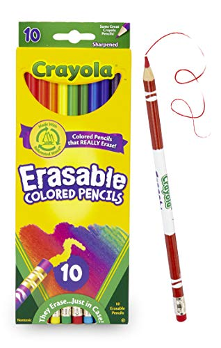 Crayola Erasable Colored Pencils, 10 Count, School Supplies