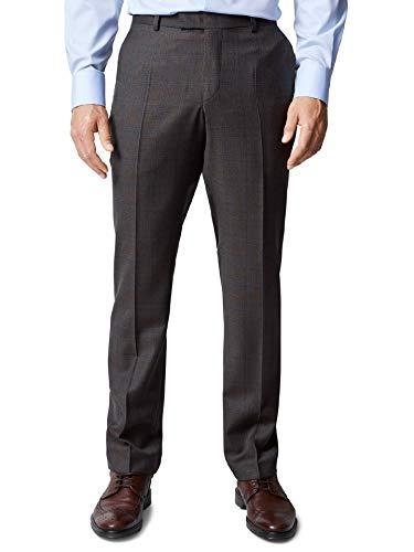 Walbusch Masterclass Herren Anzug Hose Super 130 einfarbig Braun/Grau 58