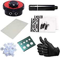 One Tattoo World - 7pc Tattoo Kit w/Rotary Pen Machine, Gloves, Ink Caps, Paper, Cartridges, and Power Supply, OTW-KPB01A