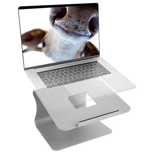 """Butterfly-US Supporto per Laptop, Supporto per Computer Portatile in Alluminio Regolabile, Laptop Staccabile Compatibile con MacBook Air PRO, dell XPS, HP, Lenovo Altro 10-15.9"""" Laptop-Spazio Grigio"""