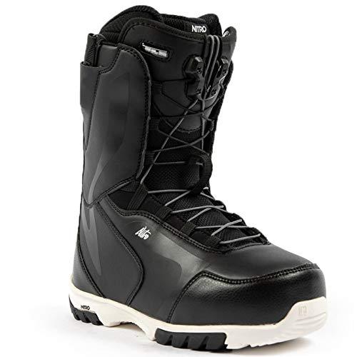 Nitro Snowboards Cuda TLS '21 All Mountain Freestyle Bottes de Snowboard à Lacets pour Femme Noir/Blanc 25,5 cm
