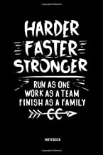 Harder Faster Stronger   Notebook: Lined Cross Country Running Notebook / Journal. Great CC Accessories & Novelty Gift Idea for all XC Runner.
