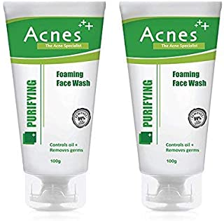 Acnes Purifying Foaming Face Wash, 100g (Pack of 2)