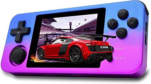 GEQWE Consola De Juegos Retro Portátil, Gratis con Tarjeta De 32G TF Consola De Juegos Clásica 2500 Incorporada Consola De Videojuegos Portátil con Pantalla IPS De 2,8 Pulgadas, Niños