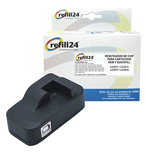 Chip-Resetter mit USB-Anschluss, compatible für Brother original oder unsere Nachfüllbaren Patronen ,für LC-3211, LC-3213, LC-3217, LC-3219 für 40 Anwendungen
