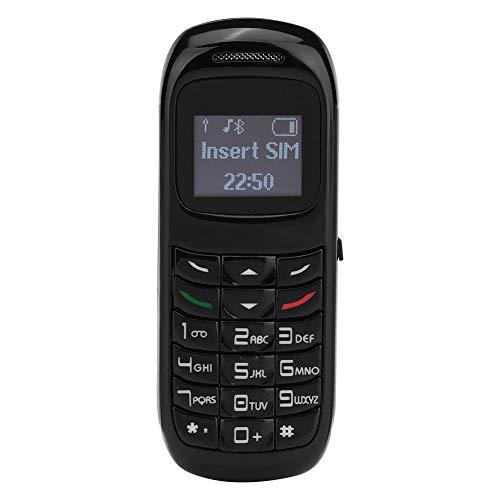 Socobeta Mini teléfono móvil Compacto Ligero Compatible con SIM(Black)