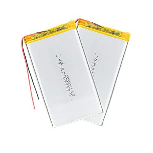 RFGTYH Batería de polímero de Litio de 3,7 V 10000 mah 8565113 Tesoro de Carga de energía móvil Recargable DIY para Tableta GPS MP4 Mid Power Bank 2Pcs