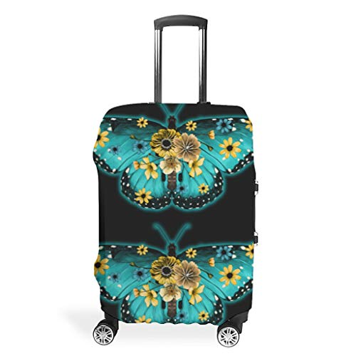 Travel Butterfly Luggage Case Protector - Easy to Identify 4 Sizes fit Most Luggage White l (66x96cm)