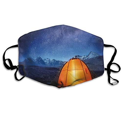 Camping Tent Under A Night Sky Full of Stars Holiday Adventure Exploring Outdoor Printing Safety Mouth Cover voor volwassenen